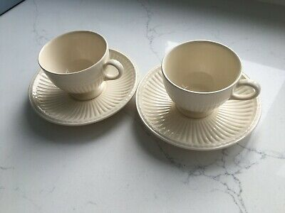 £10 • Buy Wedgwood Queens Ware Edme 2 Coffee Cups And 2 Saucers - Made In England