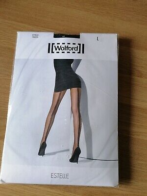£6.10 • Buy Brand New Wolford Estelle Tights Size L Double Seam Black