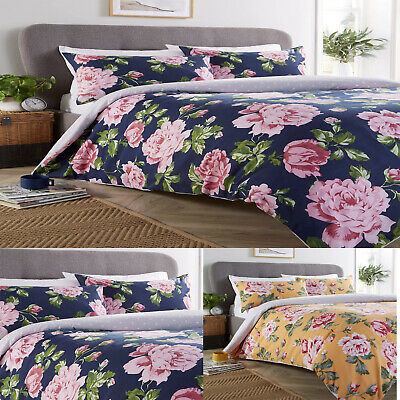 £12.99 • Buy BLOOM FLORAL DUVET COVER WITH PILLOW CASE Quilt Covers Bedding Set Single Double