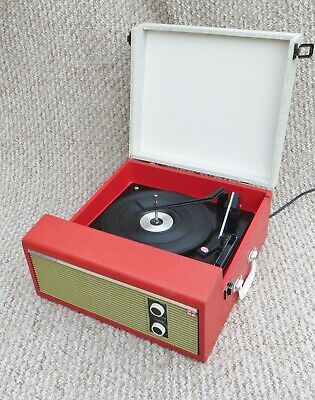£150 • Buy Superb Red 'fidelity' Vintage Record Player - Fully Serviced / Working Order