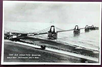 £5.99 • Buy Real Photo Postcard - The Old Chain Pier, Brighton