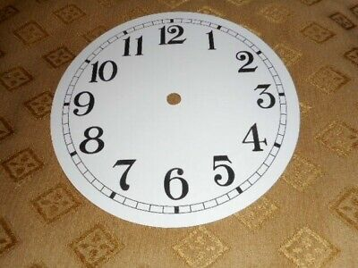 £2.96 • Buy Round PAPER (CARD) Clock Dial /Face - 3 1/4  MINUTE TRACK - Arabic-GLOSS WHITE