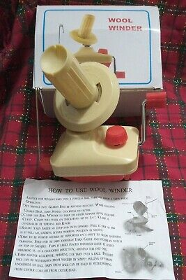 £14.99 • Buy New In Box Wool Yarn Winder With Built In Table Clamp Vintage Red/White Brother?