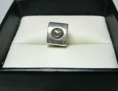 AU29 • Buy Pandora Charm - Hearts Of Gold - Silver & 14k Gold Two Tone Charm - 790305