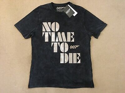 £9.99 • Buy James Bond 007 No Time To Die Acid Grey Medium T-Shirt - New With Tags!
