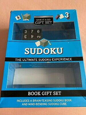 £3 • Buy Sudoku Book Gift Set - Puzzle Set And Cube