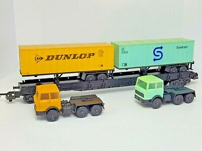 £9.99 • Buy Lima Container Flat Wagon Plus Two Lorry Loads