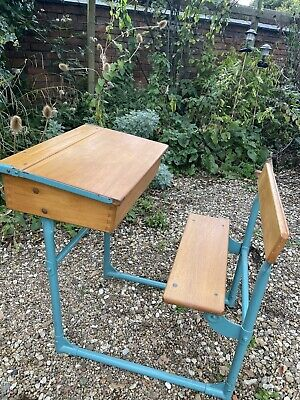 £25 • Buy Vintage 1950/60's School Desk With Folding Seat - Immaculate Original Condition
