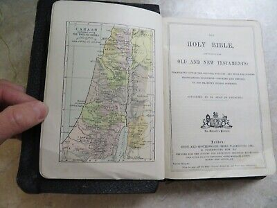 £19.99 • Buy 1900 Holy Bible Old & New Testament Col Maps Christian Religion Jesus Christ