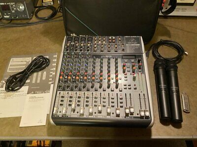 £225 • Buy BEHRINGER XENYX QX1622USB MIXER With ULM202USB WIRELESS MICS And CASE