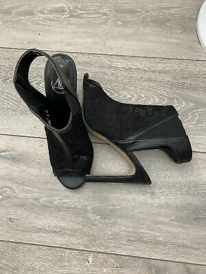 £0.99 • Buy MISSGUIDED Shoes Women Front Heeled Sandals In Black Colour