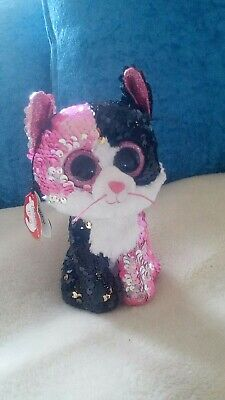 £4 • Buy Ty Flippables, Sequins, Cat Soft Toy, 15 Cm, Multi-Coloured,