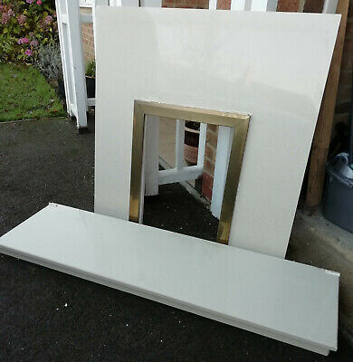£9 • Buy Marble Hearth And Back Panel For Gas Fire, Cream, Used