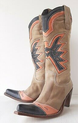 £25.51 • Buy Sancho Cowboy Western Boots Womens Size 38