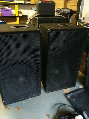 £88 • Buy Pair Of 2 X 18inch Pa Subwoofers, Bass Bins, Speakers