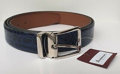 £25.95 • Buy ANDERSON'S CROCODILE EFFECT CALF LEATHER BELT MADE IN ITALY - NEW - SIZE 125cm