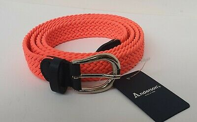 £27.95 • Buy ANDERSON'S UNISEX WOVEN BELT MADE IN ITALY - NEW - SIZE 115cm