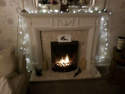 £140 • Buy Vintage Plaster Fire Surround With Marble Back & Hearth In Excel.cond.