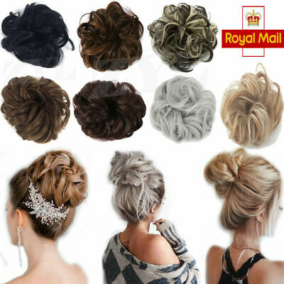 £5.69 • Buy UK Curly Messy Hair Bun Piece Scrunchie Natural Bobble Hair Extensions Hairpiece