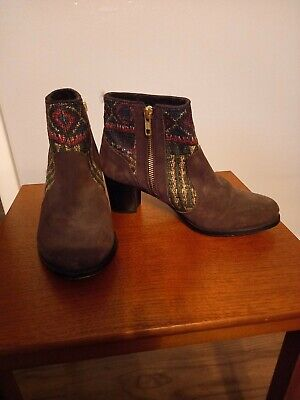 £30 • Buy Desigual Brown Patterned Boots