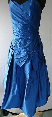 £36 • Buy RICHARDS Beautiful Blue Silk Corset Style Party Dress Ball Gown Size 12 Used