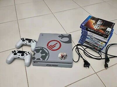 AU288 • Buy Sony Playstation PS4 Console 1TB, 2 X Sony PS4 Controllers And 13 Games Bundle.