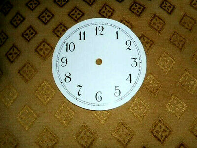 £2.15 • Buy  Round PAPER (CARD) Clock Dial /Face - 2 1/4  MINUTE TRACK - Arabic-GLOSS WHITE