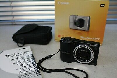 £19.99 • Buy Canon PowerShot A810 Black Boxed With Case 16MP