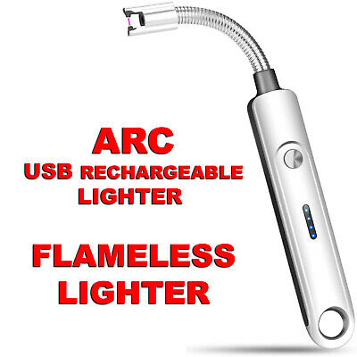 £5.26 • Buy USB Rechargeable Lighter Windproof Electronic Arc Cigarette Lighter Gift