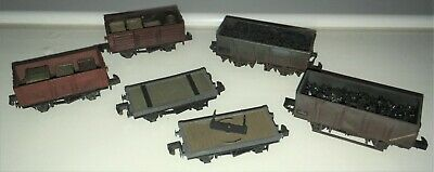 £24 • Buy N Gauge Wagons Peco & Dapol Coal And Crate Loads Professionally Weathered