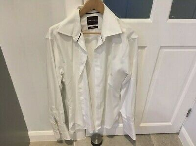 £7.95 • Buy Sartorial Marks And Spencer Slim Fit 16.5inch Non Iron Double Cuff Shirt White