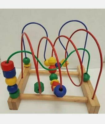 £9.99 • Buy IKEA MULA WOODEN BEAD ROLLER COASTER TOY WIRE MAZE Toy Educational Toy