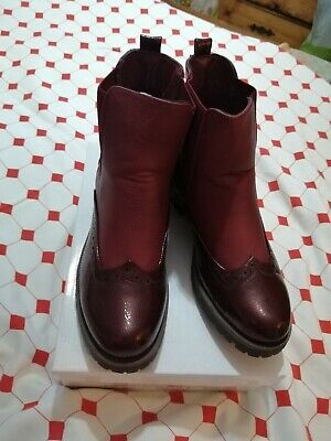 £7.50 • Buy Ladies Brogues, Burgundy Boots, Size 6