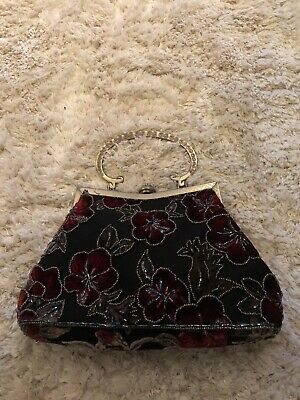 £10 • Buy Ladied Leko London Small Bag With Floral Sequin Detail And Detachable Strap