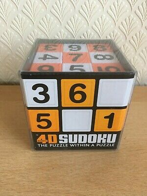 £4.99 • Buy 4D Sudoku Magnetic Cube, The Ultimate Brainteaser, The Puzzle Within A Puzzle