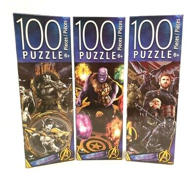 £4.40 • Buy Marvel Avengers Infinity War By Cardinal Fun Jigsaw Puzzle 100 Pieces Lot Of 3