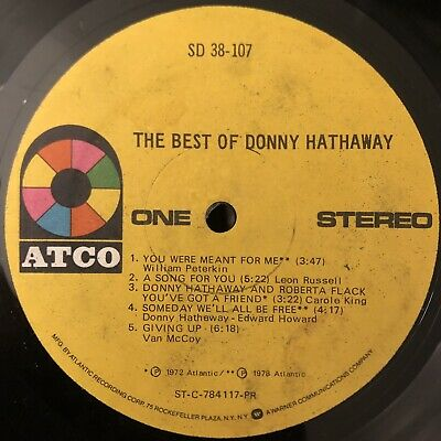 £3.64 • Buy SOUL Donny Hathaway - The Best Of LP (1978) ATCO NO COVER