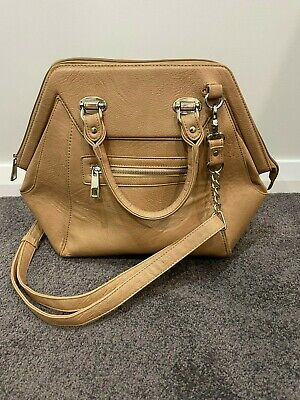 AU12.99 • Buy Forever New Tote Bag Tan With Gold Hardware