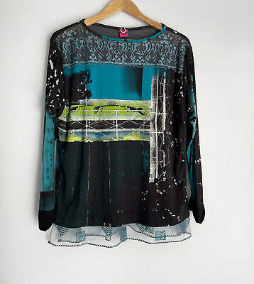 AU62 • Buy SAVE THE QUEEN ITALY Long Sleeve Detailed Top Size L