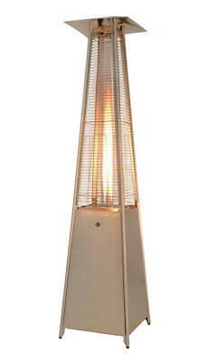 £99 • Buy Gas Pyramid Patio Heater 13kW Stainless Steel