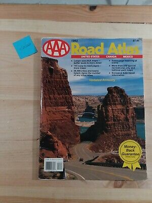 £10.34 • Buy AAA Road Atlas 1993 USA Canada And Mexico Large Size - TPB, Maps, North America