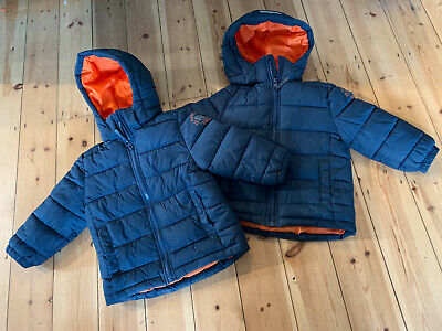 £17.99 • Buy Twin Boys 2-3 Years Navy Blue H&M Padded Winter Coats