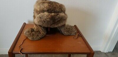 £21 • Buy Vintage Real Rabbit Thick Fur Russian Trapper Hat Sz M Great Condition