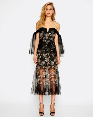 AU200 • Buy Bnwt Alice Mccall Black Belissimo Gown - Size 12 Au/8 Us (rrp $650)