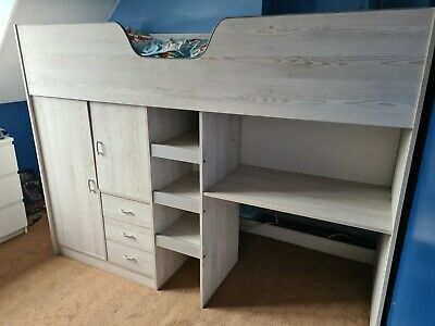 £80 • Buy Cabin Bed With Desk, Drawers And Wardrobe