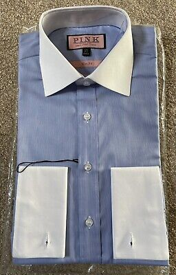 £20 • Buy Brand  New Thomas Pink Mens Shirt - 14.5 Slim Fit - Double Cuff