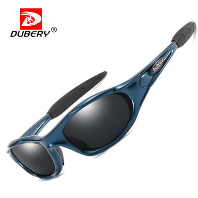 AU11.96 • Buy DUBERY Men Polarized Sunglasses Outdoor Driving Cycling Black Lens Glasses New