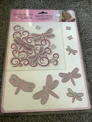 £6.99 • Buy Cut & Emboss Dragonfly Swirls With Matching Dies By Chloe