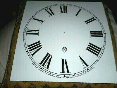 £6.98 • Buy Large Square Ansonia PAPER (CARD) Clock Dial/Face -11  MINUTE TRACK-Roman-MATTE