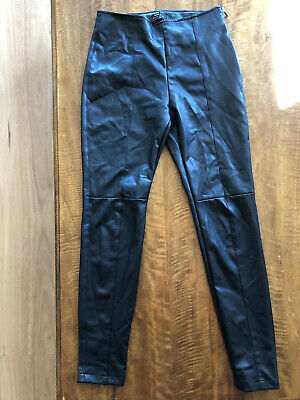 AU27 • Buy New Bershka Pleather Leather Look Skinny Pants. Fitted W Side Zip. Size M